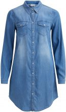 VILA Denim Dress Women Blue
