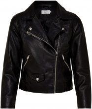 ONLY Biker Faux Leather Jacket Women Black