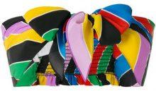 Philosophy Di Lorenzo Serafini - rainbow stripe tie front crop top - women - Silk - 40, 42 - MULTICOLOUR
