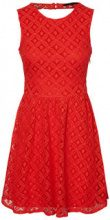 VERO MODA Lace Sleeveless Dress Women Red