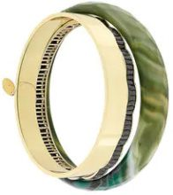 Iosselliani - Anubian Age of Jazz set of bracelets - women - Gold Plated Brass - One Size - GREEN