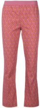 Twin-Set - flared paisley trousers - women - Cotton - 38, 40, 42, 44, 46, 48, 50 - PINK & PURPLE