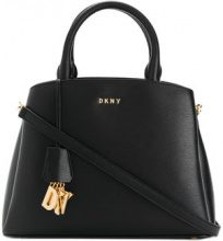 DKNY - medium logo tote bag - women - Leather - One Size - BLACK