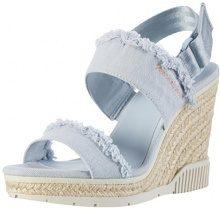 Calvin Klein Jeans R4056, Sandali Punta Aperta Donna, Blu (Chambray), 38 EU