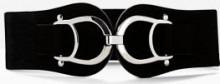 Cintura elasticizzata con fibbia grande (Nero) - bpc bonprix collection