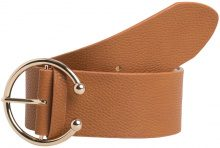 PIECES Wide Belt Women Brown