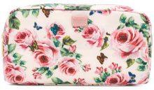 Dolce & Gabbana - Trousse con motivo a rose - women - Nylon - One Size - PINK & PURPLE