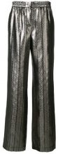 Ps By Paul Smith - metallic pleat detail trousers - women - Acetate/Polyester/Lurex/Viscose - 40, 42 - METALLIC