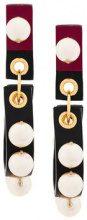 Marni - Orecchini con perle - women - Calf Leather/Pearls - One Size - BLACK
