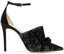 Jimmy Choo - Pumps '100' - women - Leather/Silk - 37, 38.5, 40.5, 37.5, 39, 39.5, 40, 41 - Nero
