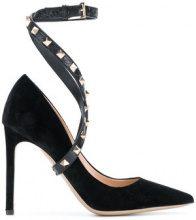 Valentino - Valentino Garavani Studwrap pumps - women - Velvet/Leather - 35.5, 36, 36.5, 37, 37.5, 38, 38.5, 39.5, 40 - BLACK