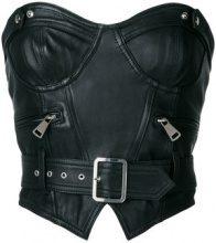 Manokhi - Corsetto con cintura - women - Leather/Viscose/Polyester - 34, 38, 40 - Nero