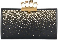 Alexander McQueen - skull four-ring clutch bag - women - Leather - One Size - Nero