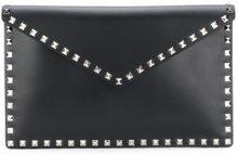 Valentino - Clutch Rockstud - women - Calf Leather - OS - BLACK