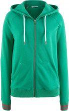 Giacca in felpa con bordi in maglia a righe (Verde) - bpc bonprix collection