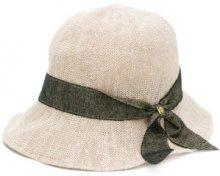 Ca4la - Cloche con nastro in tweed - women - Polyester/Linen/Flax - OS - NUDE & NEUTRALS