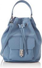 Trussardi Jeans Suzanne, Borsa a Secchiello Donna, Blu (Light Blue), 18.5x44.5x32 cm