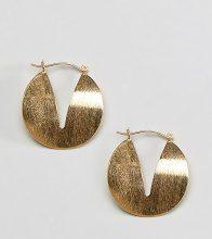 ASOS DESIGN - Orecchini a cerchio in argento sterling satinato con spacchi - Oro