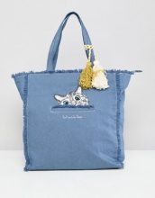 Paul & Joe Sister - Borsa shopper di jeans con gatto - Blu