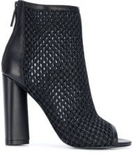 Kendall+Kylie - Galla boots - women - Leather/Raffia/Polyester/rubber - 36, 39, 40, 38 - BLACK