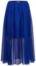 SELECTED Sheer - Midi Skirt Women Blue