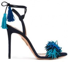 Aquazzura - 'Wild Thing' sandals - women - Leather/Suede - 36, 37, 37.5, 38, 38.5, 39, 40 - BLUE