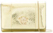Versace - 3D Medusa clutch bag - women - Ayers Snakeskin - OS - METALLIC