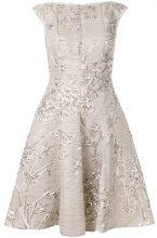 Talbot Runhof - jacquard dress - women - Polyester/Silk/Polyamide/Cupro - 34, 38, 40 - NUDE & NEUTRALS