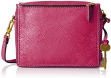 Fossil Campbell - Borse a tracolla Donna, Pink (Hot Pink), 6.03x15.24x19.69 cm (B x H T)