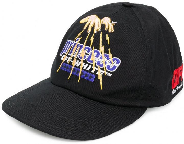 Off - White - Cappello da baseball ricamato - women - fibra  sintetica cotone - Taglia Unica - di colore nero. Cappello da baseball  ricamato 05a8115cc166