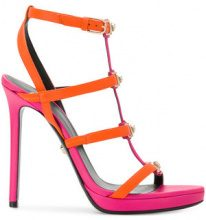 Versace - Sandali con cinturini - women - Calf Leather/Leather - 36, 37, 37.5, 38, 39, 40, 38.5, 39.5 - YELLOW & ORANGE