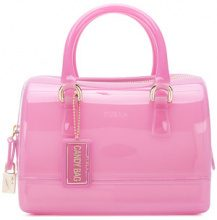 Furla - small Candy boston bag - women - PVC - OS - PINK & PURPLE