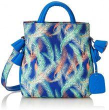 Laura Vita Drap - Borse a spalla Donna, Blau (Bleu), 11x25x25 cm (B x H T)