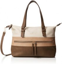 Tom Tailor Acc Marit Donna Borse Bowling Beige (Taupe) 13.5x24x40 cm (B x H x T)