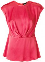Giorgio Armani - sleeveless ruched blouse - women - Silk - 42, 44, 48 - PINK & PURPLE