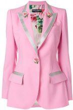Dolce & Gabbana - Blazer con ricamo floreale - women - Lana Vergine/Silk/Spandex/Elastane/Wool - 42, 44, 40, 46 - Rosa & viola