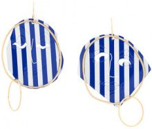 JW Anderson - Orecchini 'Moon Face' - women - Gold Plated Brass/metal - OS - BLUE