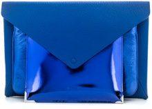 Maison Margiela - multi-pouch clutch - women - Leather - OS - BLUE