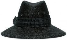 Maison Michel - black Kate see through bow straw hat - women - Straw - S, L - Nero