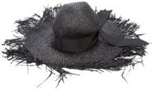 Gigi Burris Millinery - cappello sole distrutto - women - Raffia - OS - BLACK