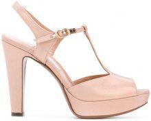 L'Autre Chose - D'Orsay T-Bar sandals - women - Leather/Viscose - 37, 38, 39, 40 - PINK & PURPLE