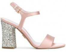 Michael Michael Kors - Tori glitter-finished sandals - women - Viscose/Polyurethane/rubber - 6, 7.5, 8.5, 9, 9.5, 10, 7, 8 - PINK & PURPLE