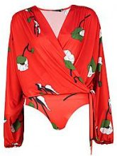 Zoe Floral Wrap Tie Bodysuit