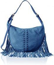 Chicca Borse 8630, Borsa a Spalla Donna, Blu (Blue), 40x27x7 cm (W x H x L)