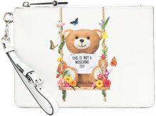 Moschino - Pochette con stampa 'Toy Bear' - women - Leather - OS - WHITE
