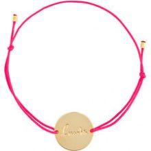 Malaika Raiss - Braccialetto con placchetta - women - Polyester/Gold Plated Brass - OS - PINK & PURPLE