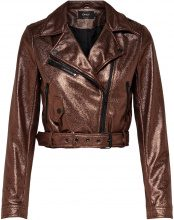 ONLY Cropped Biker Jacket Women Brown
