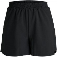 PIECES Solid Shorts Women Black