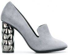 - Luis Onofre - Pumps con tacco decorato - women - Calf Leather/Suede/Leather - 36, 40, 41 - Grigio