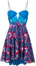 La Perla - lace panel cocktail dress - women - Silk/Spandex/Elastane/Polyester/Polyamide - 42 - BLUE